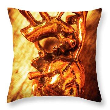 Iron Arteries  Throw Pillow