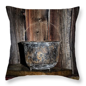 Iron Cauldron Throw Pillow