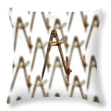 Iron Compass Pattern Throw Pillow by YoPedro