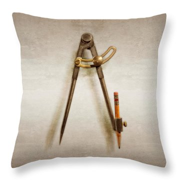Iron Compass Throw Pillow