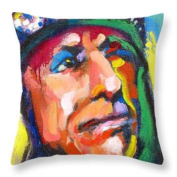 Iron Eyes Cody Throw Pillow