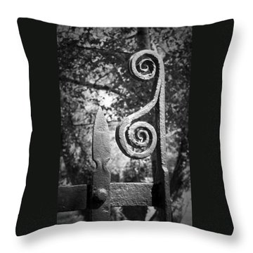 Iron Gate Detail County Clare Ireland Throw Pillow by Teresa Mucha