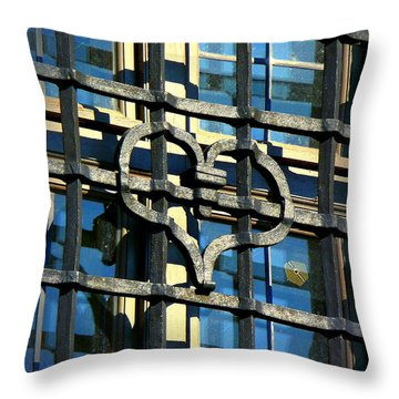 Iron Heart Throw Pillow by Lori Seaman
