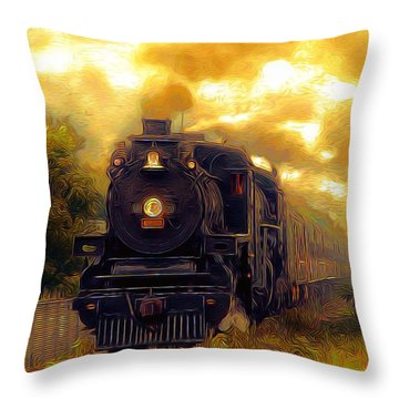 Throw Pillow featuring the photograph Iron Horse by Aaron Berg