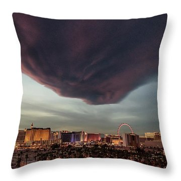 Iron Maiden Las Vegas Throw Pillow