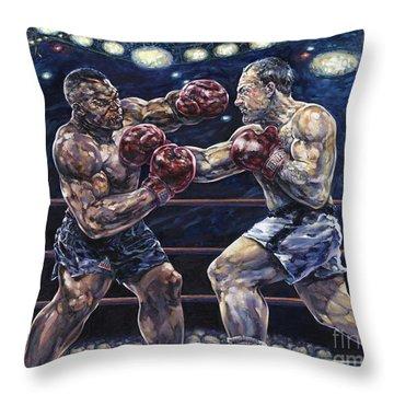 Iron Mike Vs. Rocky Throw Pillow