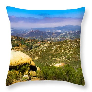 Iron Mountain View Throw Pillow