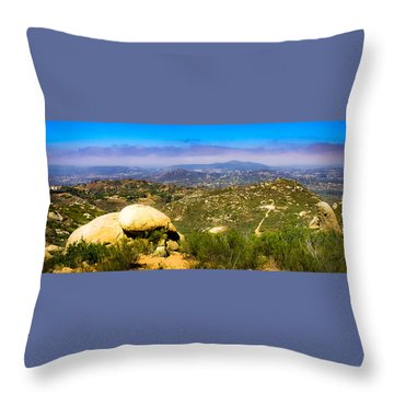 Throw Pillow featuring the photograph Iron Mountain View by T Brian Jones