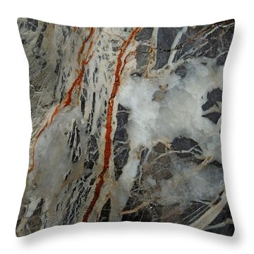 Iron Veins. Throw Pillow