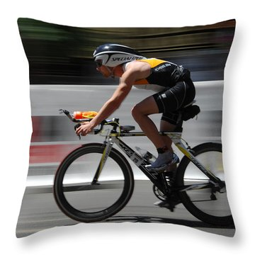 Ironman Need For Speed Throw Pillow by Bob Christopher