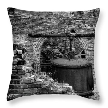 Ironworks Remains Throw Pillow