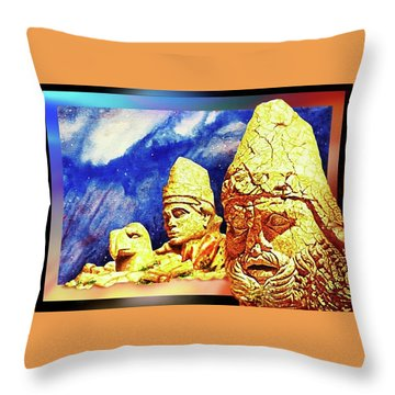 Throw Pillow featuring the painting Irreplaceable   Ancient  Glory by Hartmut Jager