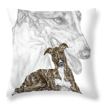 Irresistible - Greyhound Dog Print Color Tinted Throw Pillow