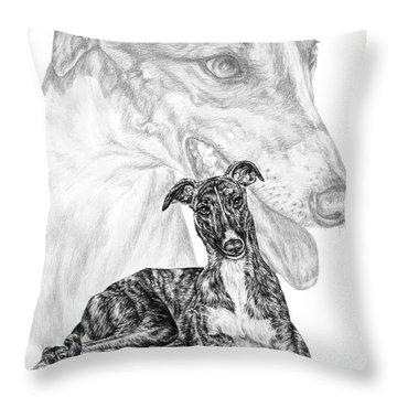 Irresistible - Greyhound Dog Print Throw Pillow