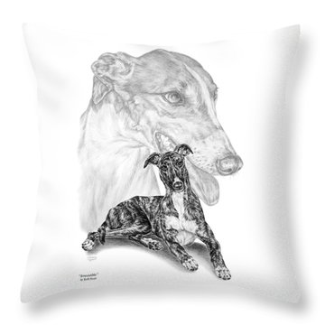 Irresistible - Greyhound Dog Print Throw Pillow