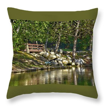 Irvine Park Lake Abstract 2 Throw Pillow