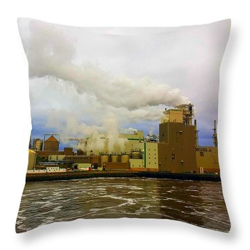 Irving Pulp Mill #3 Throw Pillow