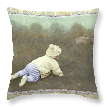 Is Bunny In The Basket? Throw Pillow