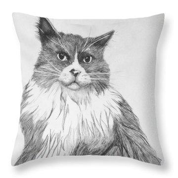 Is It Dinner Time Throw Pillow by John Stuart Webbstock