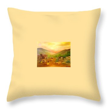 Is It Done Yet? Throw Pillow by Connie Gregory