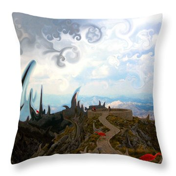Is It  Throw Pillow by Marko Mitic