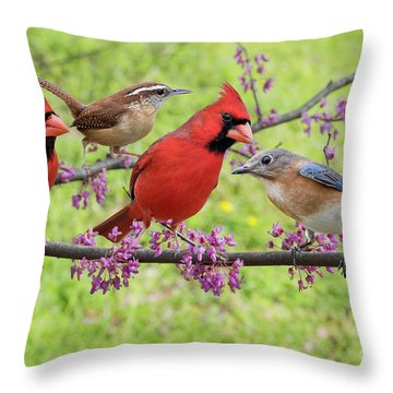 Is It Spring Yet? Throw Pillow by Bonnie Barry