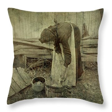 Is Never Done Throw Pillow