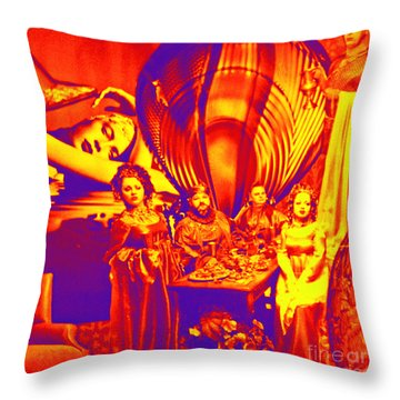 Is She Coming? Throw Pillow
