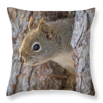 Is Someone There? Throw Pillow