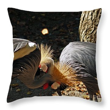 Is That A Wig You Are Wearing Throw Pillow by Patricia Griffin Brett