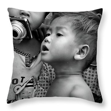 Is That Me Throw Pillow by Marion Galt