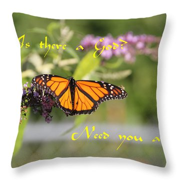 Is There A God Throw Pillow