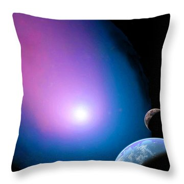 Is There Any Place God's Light Doesn't Shine? Throw Pillow