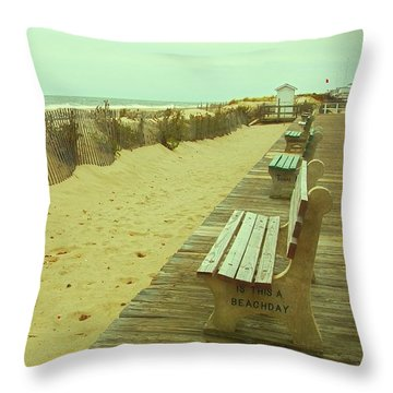 Is This A Beach Day - Jersey Shore Throw Pillow