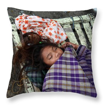 Is This My Life Throw Pillow by Jez C Self