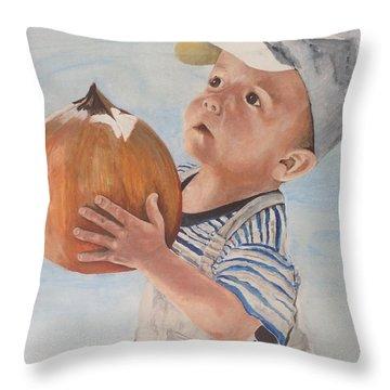 Is This Pumpkin Good? Throw Pillow