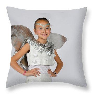 Isa In Snow Fairy Throw Pillow