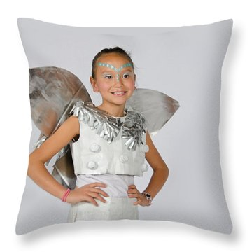 Isa In Snow Fairy Throw Pillow