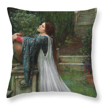 Isabella And The Pot Of Basil Throw Pillow