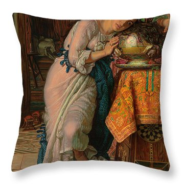 Of Roses And Love Throw Pillows