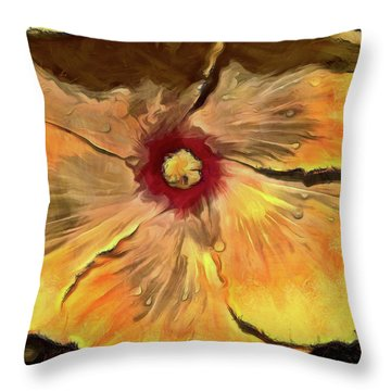 Throw Pillow featuring the mixed media Isabella by Trish Tritz