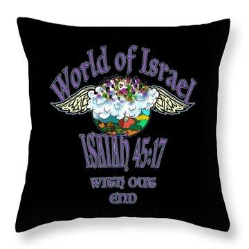 Isaiah 45 Verse 17 Throw Pillow
