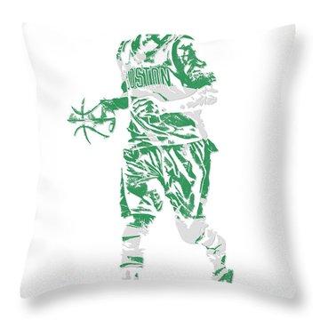Isaiah Thomas Boston Celtics Pixel Art 17 Throw Pillow