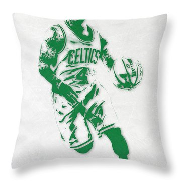 Isaiah Thomas Boston Celtics Pixel Art 2 Throw Pillow