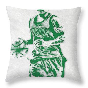 Isaiah Thomas Boston Celtics Pixel Art Throw Pillow