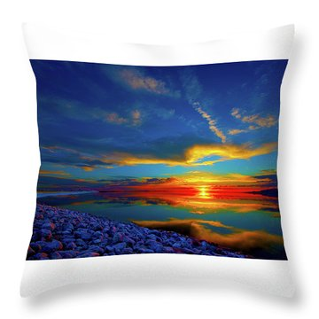 Throw Pillow featuring the photograph Isand Sunset by Norman Hall