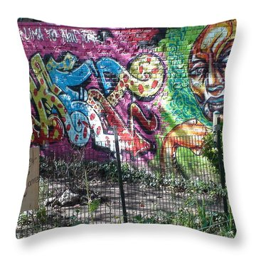 Throw Pillow featuring the photograph Isham Park Graffiti  by Cole Thompson