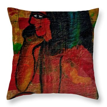 Isis, Egyption Queen Of Earth Throw Pillow