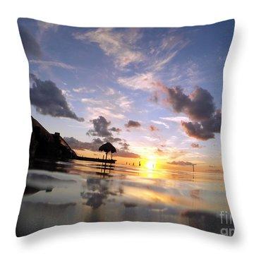 Isla Mujeres Throw Pillow