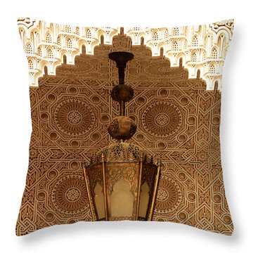 Islamic Plasterwork Throw Pillow